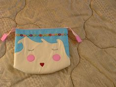 Quilted Cosmetic bag for girls by AlexCraftsStore on Etsy
