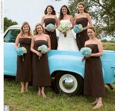 134 best Wedding - Blue & Brown images on Pinterest | Color palettes ...