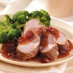Cranberry Pork Tenderloin Slow Cooker Make this for Valentine's dinner. Substitute homemade cranberry sauce if time. Serve with steamed broccoli, rice, salad, dessert, mocktail.