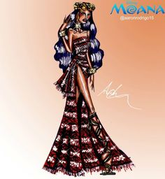 'Moana' Disney Princess Couture Collection by @aaronrodrigo15  Be Inspirational ❥ Mz. Manerz: Being well dressed is a beautiful form of confidence, happiness & politeness