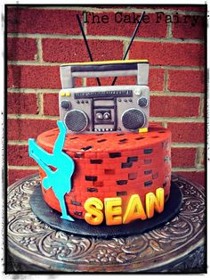 Hubby's Hip Hop Cake :) - Cake by Renee Daly - CakesDecor Dance Party Birthday, Boy Birthday Parties, 7th Birthday, Dance Cakes, Music Cakes, Bithday Cake, Hip Hop Party, Novelty Cakes, Cakes For Boys