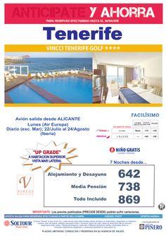 TENERIFE. Anticípate y ahorra Hotel Vincci Tenerife Golf salidas desde Alicante ultimo minuto - http://zocotours.com/tenerife-anticipate-y-ahorra-hotel-vincci-tenerife-golf-salidas-desde-alicante-ultimo-minuto-2/