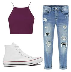 """""""Untitled #121"""" by starbucksgirl33 on Polyvore featuring Topshop and Converse"""