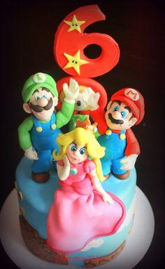 Super Mario bros cake topper