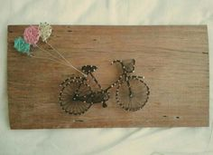 String Art. Bicycle