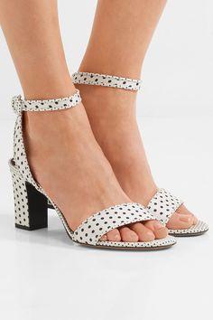 Tabitha Simmons - Leticia Polka-dot Twill Sandals - White - IT35.5