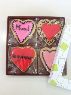 Caja de 4 corazones con dedicatorias. #sanvalentin #valentineday
