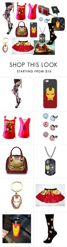 """""""Iron Man"""" by katlover4 ❤ liked on Polyvore featuring Casetify, NIKE, Marvel, Loungefly and Cufflinks, Inc."""