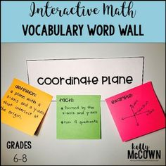 Ready to engage your students with vocabulary? This is a great way to get your students to learn new math terms and create a word wall in your math classroom. Try one or all of the vocabulary words with your students today! Download the middle school math word wall for your kids now. Math Vocabulary Words, Math Words, Interactive Word Wall, Math Word Walls, Middle School, School Kids, Effective Teaching, Math Lesson Plans, Math Strategies