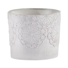 Concrete Lace Votive Holder ($26) ❤ liked on Polyvore featuring home, home decor, candles & candleholders, lt grey, gray candles, grey candles, colored votive holders, concrete candle and lace candle holders