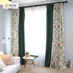 Curtain Styles For Living Room Design - My Romodel Living Room Windows, New Living Room, Living Spaces, Curtains Living, Glass Door Coverings, Window Coverings, Window Treatments, Rod Pocket Curtains, Window Curtains