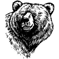 Tattoo design of a loving peaceful bear - with two cubs under it