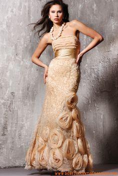 Robe de soirée star de luxe orné de fleurs