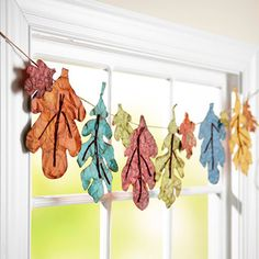 Paper leaf garland.  Love it!