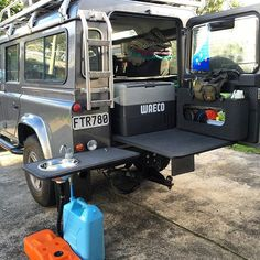 Stage 3 finished today, sink/bench/water for self contained certification later this week (fingers crossed) #landrover #landroverdefender #defender110 #defendergirl #onelifeliveit #defender #campkitchen #4wd #overlanding #glamping #camping