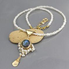 Declaración nupcial collar collar de perlas regalo