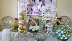 Christmas Table Centerpiece - Up to Date Interiors