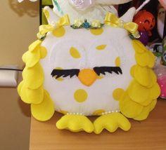 Ready To Ship > Handmade Felt Owl, Stuffed Owl, Room Decor, Ornament, Nursery Decor by PlushiesTemple on Etsy