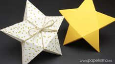 easy cardboard box with star shape free template printable star box Easy Diy Crafts, Diy Crafts Videos, Diy Crafts For Kids, Christmas Origami, Christmas Crafts, Box Templates Printable Free, Printable Star, Diy Paper, Paper Crafts