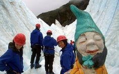 """""""New Zealand: Murphy poses for the camera before setting off on an ice-climbing expedition. He had visted 12 countries and three continents, and immigration stamps left with the photo album included South Africa, Swaziland, Mozambique, New Zealand, Australia, Singapore, Thailand, Cambodia, Vietnam, China, Hong Kong and Laos."""" See more of his travels here: http://pinterest.com/pin/175218241724735910/"""