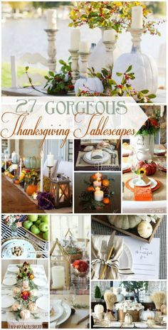 27 Gorgeous Thanksgi