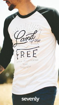 Modern-day slavery is alive, and must be stopped with the intentional actions of you and I. Your purchase supports the freedom & healing of young girls forced into sex trafficking ► http://www.sevenly.org/?cid=PINTERESTdale