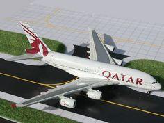 GJQTR654 Gemini Jets 1:400 Airplanes  QATAR  A380 QATAR AIRWAYS-AIRBUS 380 #GeminiJets