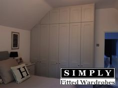 A recent installation of these fantastic fitted Wardrobes by Simply Fitted Wardrobes. This client wanted our Rockingham Range of Fitted Wardrobes and decided on our Cashmere finish. A stunning combination if we do say so. Fitted Bedrooms, Fitted Wardrobes, Armoire, Tall Cabinet Storage, Cashmere, Range, London, Fitness, Furniture
