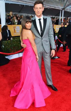 Lea Michele and Boyfriend Cory Monteith at the Screen Actor's Guild Awards on January 27, 2013