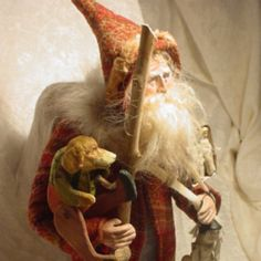 Santa - by Norma DeCamp...incredibly talented artist I have collected for years.  Just priceless talent.