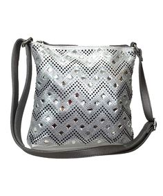 Gem Stone Cheron Zigzag Sparkle Cross Body bag Bling Purses Silver (Pewter)  - C712N7EY1PM. Most Popular Women s Crossbody Bags Clearance Sale adb7d0dc89076