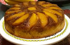 Since last week, there's a lot of Thai Mangoes in the supermarket near our place. I love Thai Mangoes because they are so sweet. Today, I. New Recipes, Cake Recipes, Thai Mango, Wine Down Wednesday, Baked Pineapple, Milk Cake, Pineapple Upside Down, Recipe Link, Serving Plates