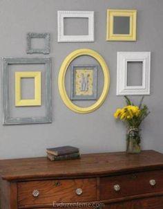 Gri ve sarı ile oturma odanızı etkileyici hale getirecek 17 yol