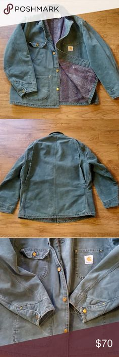 Vintage Carhartt Carhartt blanket lined barn jacket in green. Size large. An amazing vintage coat in great condition, has minimal signs of wear but no damage. Carhartt Jackets & Coats