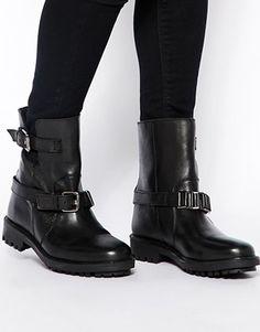 Увеличить Кожаные байкерские ботинки ASOS ALFIE