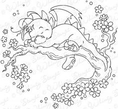 Wee Stamps - Dreamy Dragon