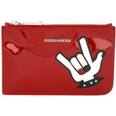Dsquared2 punk patch make-up bag (98.470 CRC) ❤ liked on Polyvore featuring beauty products, beauty accessories, bags & cases, bags, red, purse makeup bag, make up bag, travel toiletry case, travel bag and toiletry bag