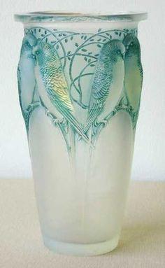 René Lalique / Ceylan Bird Vase c.1924