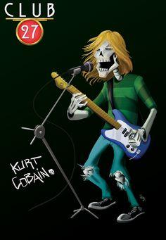 Club 27 Kurt Cobain, digital paint