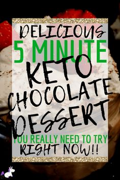 Keto chocolate mousse, perfect for when your chocolate cravings strike! This low-carb dessert uses only 4 ingredients & takes less than 5 minutes to whip up Low Carb Meal Plan, Low Carb Lunch, Low Carb Dinner Recipes, Low Carb Breakfast, Low Carb Desserts, Keto Recipes, Healthy Recipes, Lunch Recipes, Easy Recipes