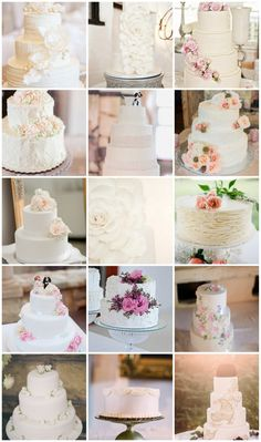 25 Absolutely Amazing All White Wedding Cakes. This selection of 25 of our fave white wedding cakes includes the chic and understated, the rustic and ravishing, and of course the wonderfully whimsical! Navy Rustic Wedding, All White Wedding, Cream Wedding, White Wedding Cakes, Wedding Cupcakes, Amazing Wedding Cakes, Elegant Wedding Cakes, Glamorous Wedding, Amazing Cakes
