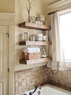 Estanterías en el baño #decoracion #estanterias #almacenaje