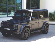 matte black Brabus G-Wagon