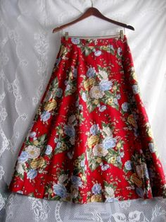 Vintage JG Hook Linen Blend Skirt Size 12 by jonscreations on Etsy   #craftshout