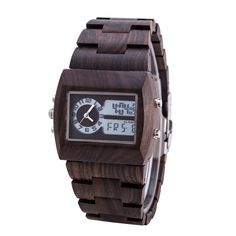 Man Wooden Watch New Year Gift Bangle Quartz Watch With electronic Display Role Men Relogio Masculino Watches