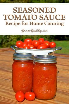 TOMATOES: No store bought tomato sauce compares with the flavor of homemade. Capture summer in a jar with this seasoned tomato sauce recipe for home canning. Homemade Tomato Sauce, Canned Tomato Sauce, Tomatoe Sauce, Recipe For Tomato Sauce, How To Make Tomato Sauce, Types Of Tomatoes, How To Can Tomatoes, Grow Tomatoes, Cherry Tomatoes