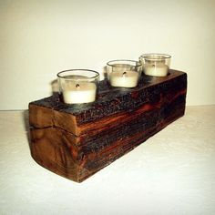 Reclaimed Fence Post Candle Votive Holder by ReclaimedandRustic, $17.00