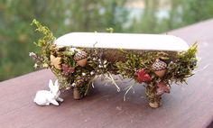 Fairy bench - decorations on base and legs - cute!