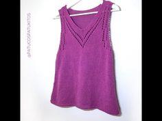 Knit Crochet, Tank Tops, Knitting, Sweaters, Lana, Crocheting, Dresses, Women, Fashion
