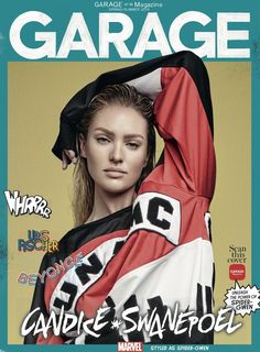 Candice Swanepoel as Spider-Gwen on Garage Magazine Spring-Summer 2016 cover